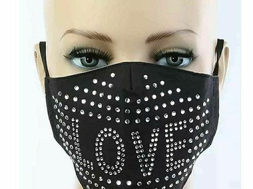 Love Bling Face Mask