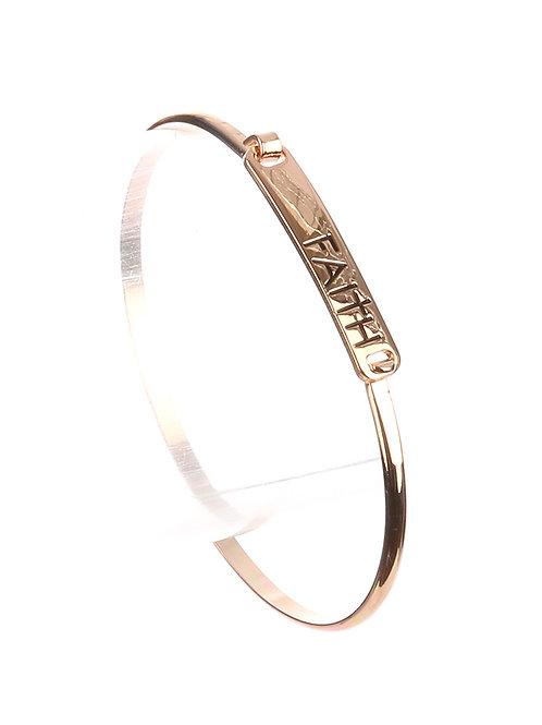 Faith or Amazing Grace Bangle Bracelet