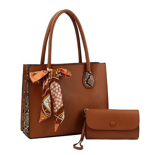 Accordian Scarf Tote Bag Set