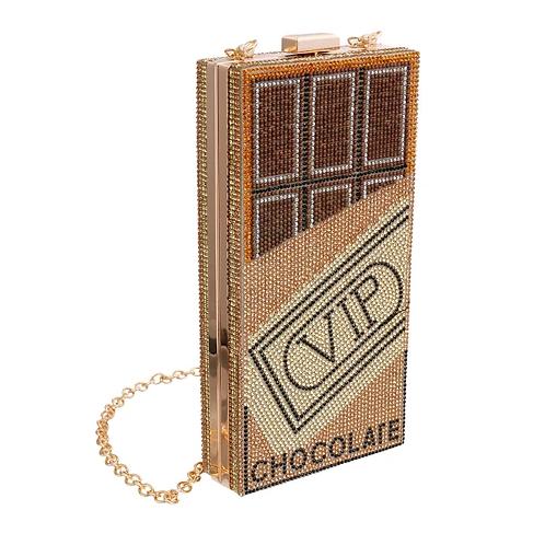 VIP Bling Gold Metal Rectangle Hardcase