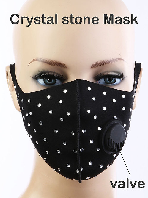 Bling mask with respirator