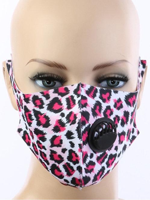 Pink animal print respirator Face Mask