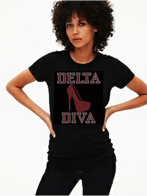 Delta Diva Bling Tee or Tote Bag