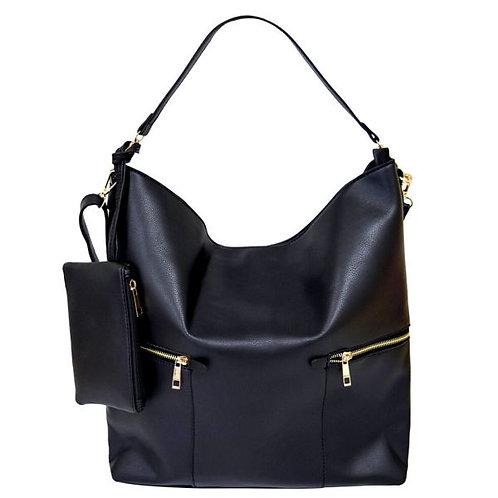 Leather Hobo Tote Bag