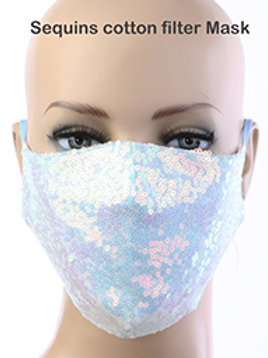 Sequin  mask with filter inlcuded