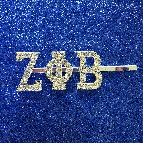 Zeta Sorority Bling Hair Pin