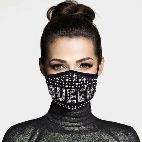 Queen Bling Face Mask