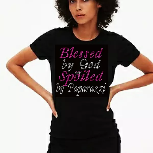 Blessed by Paparazzi Bling Tee or Tote Bag