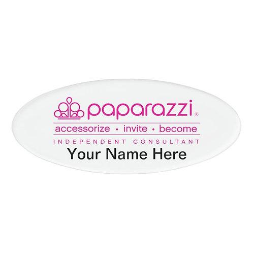 Paparazzi magnetic name badge