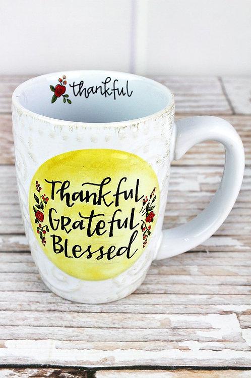 """Thankful Grateful Blessed"" mug"