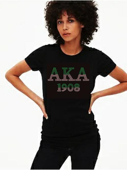 AKA Sorority: AKA 1908 Bling tee or Tote bag