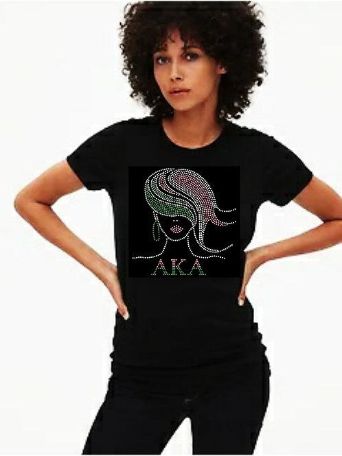 AKA Sorority: Flowing Hair Bling tee or Tote bag