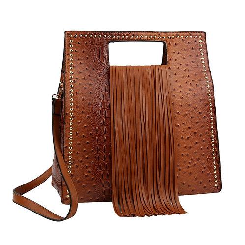 Croc Fringe Handbag