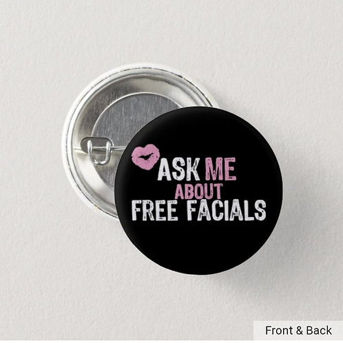 Ask me about Free Facials button