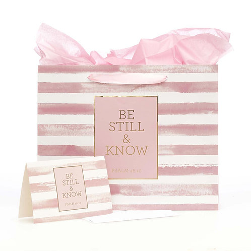 Be Still and Know gift bag set