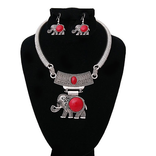 Delta Inspired Silver Choker necklace set