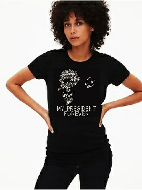 Obama Forever President bling tee or Tote bag