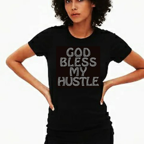 God Bless My Hustle Bling Tee or Tote Bag