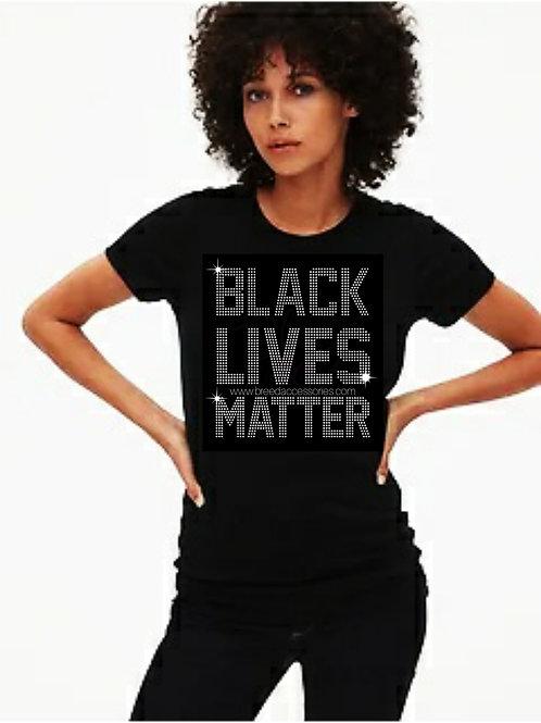 Black Lives Matter bling tee or Tote bag
