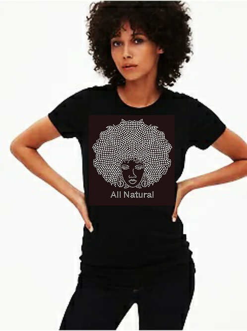All Natural bling tee or Tote bag