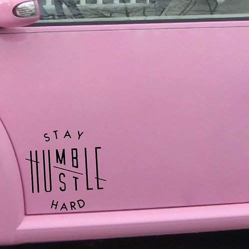 Hustle Hard Car Decal