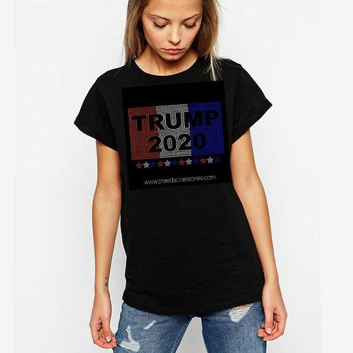 Trump 2020 (STARS) Bling tee or Tote bag