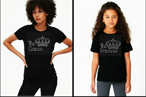 Mom and Daughter Bling Tee or Tote Bag Set