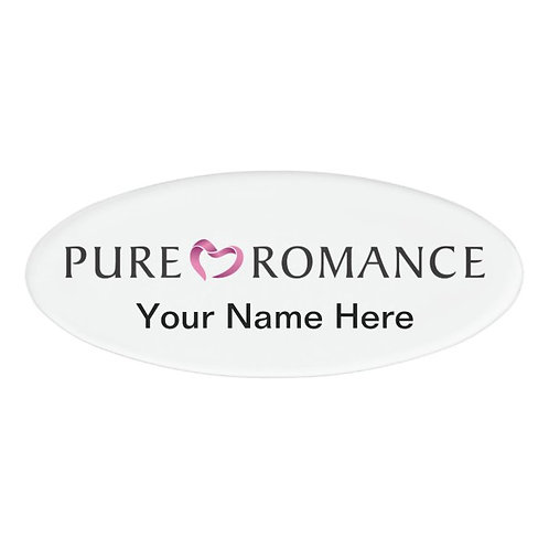Pure Romance magnetic name badge