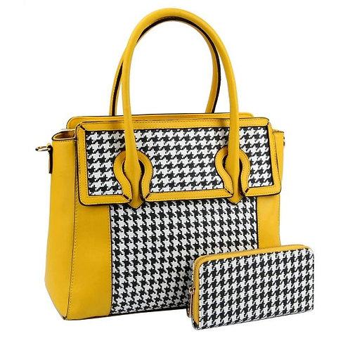 Houndstooth Handbag Set