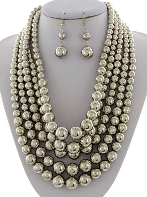 Multi bead necklace set