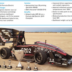 3D printing transforms driver experience, and performance for record-breaking electric race car
