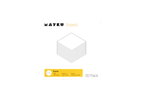 Mayku_0.5mm Form Sheets_HIPS_White (30 Sheets)