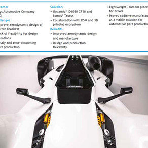 Supercar wing mirror aerodynamics improved with 3D printing