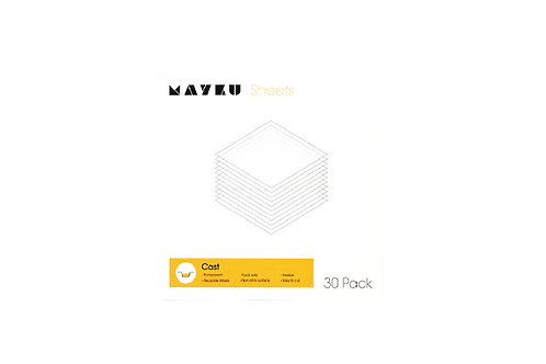 Mayku_0.5mm Cast Sheets_PETG_Transparent (30 Sheet)