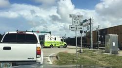 ambulance at crossing