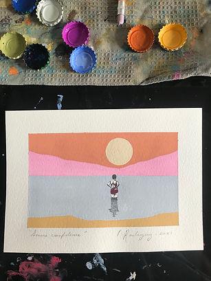 Serene Confidence � Guache on watercolour paper � 10 x 16 cm � 2021 � £100.jpg