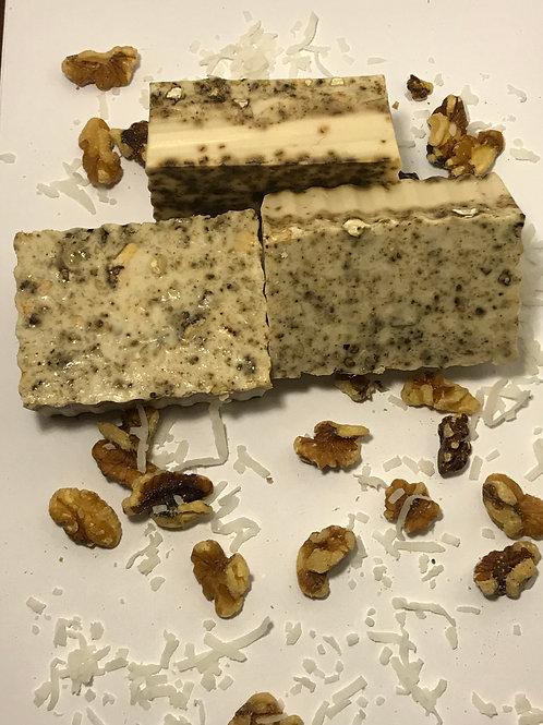 Walnut &Coconut Exfoliating Body Bar