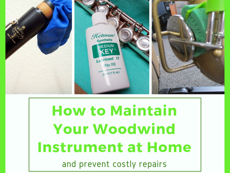 How to Maintain Your Woodwind Instrument at Home