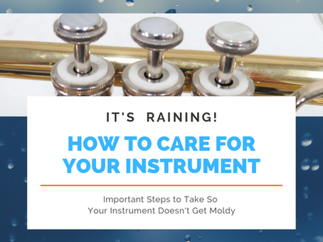 It's Raining - Care for Your Instrument