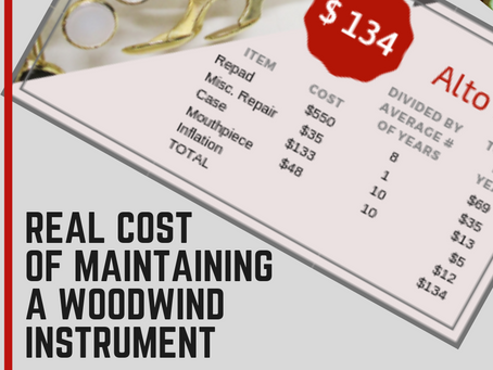 Real Cost of Maintaining A Woodwind Instrument