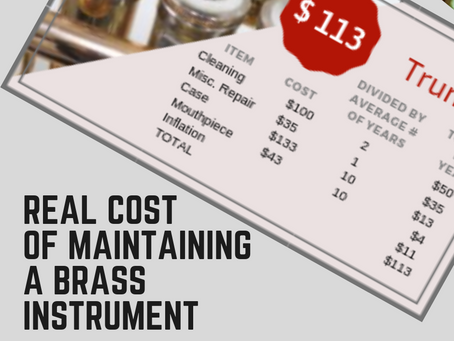 Real Cost of Maintaining a Brass Instrument