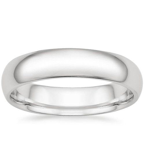 Men's 14K White Gold 5mm Comfort Fit Wedding Band