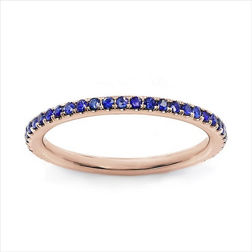 Rainbow Stackable - Blue Sapphire in 14K Rose Gold (0.33ctw)