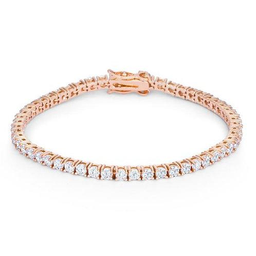 Diamond Tennis Bracelet (3.50ctw) in 14k Rose Gold