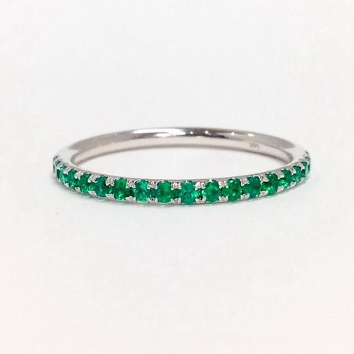 Rainbow Stackable - Green Emerald in 14K Rose Gold (0.33ctw)