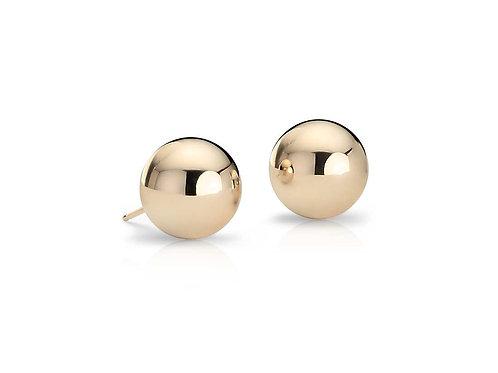 14K Gold Bead Stud Earrings