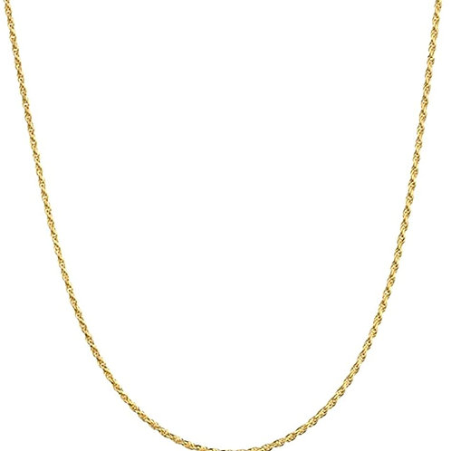 14Y Gold Men's Rope Chain