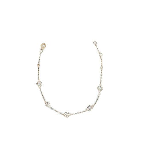 Diamond Charm Bracelet in 14K Rose Gold
