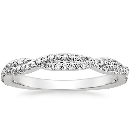 Infinity Round  Diamond Band (0.50ctw) in 14k White Gold
