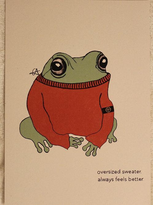 A5 stone island, frog print